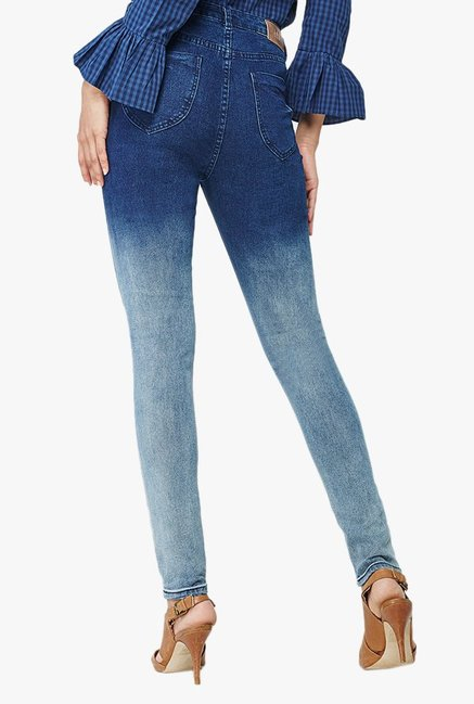 AND Indigo Slim Fit Lightly Washed Jeans