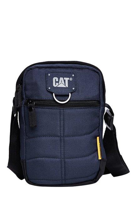 CAT Rodney Navy Stitched Polyester Sling Bag