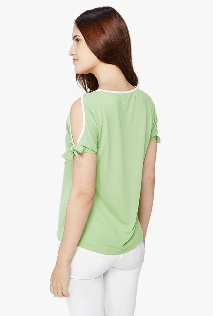AND Green Round Neck Top