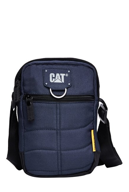 CAT Ryan Navy Stitched Polyester Sling Bag