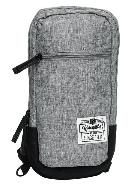 CAT Nata Shale Grey & Black Textured Cross Body Bag