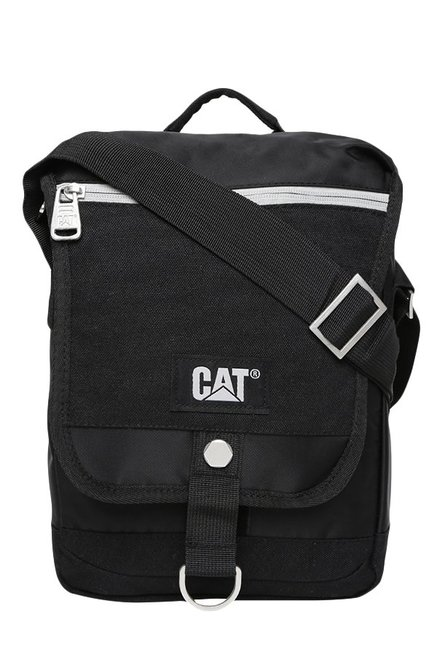CAT Mammoth Black Solid Polyester Sling Bag