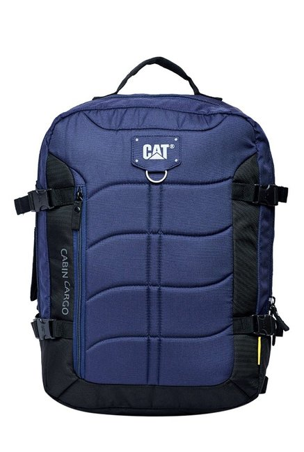 CAT Cabin Cargo Navy & Black Stitched Polyester Backpack