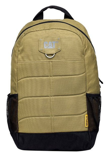 CAT Benji Beige Stitched Polyester Backpack