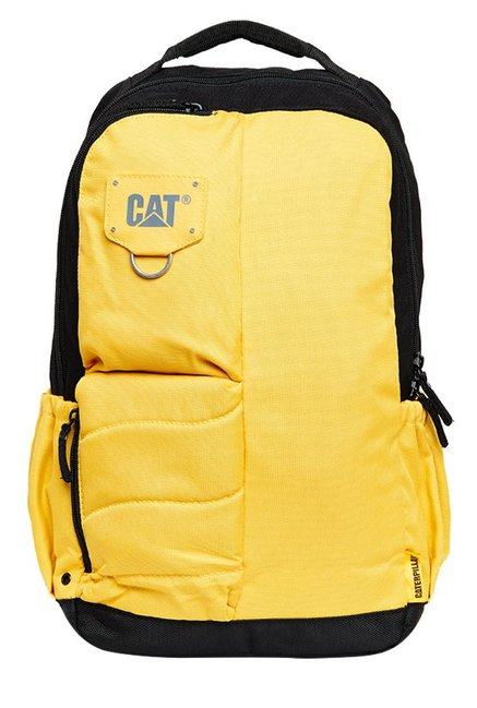 CAT Bruce Yellow & Black Polyester Backpack