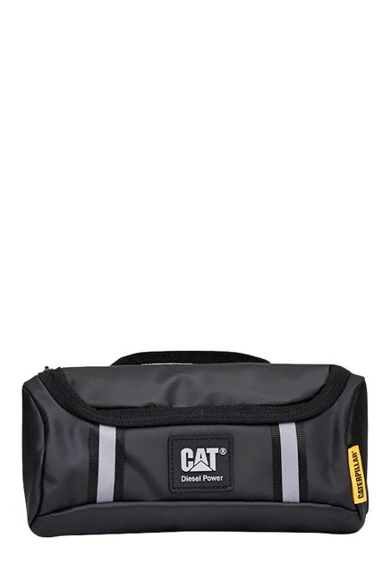 CAT Redwood Black Paneled Rubber Waist Pouch
