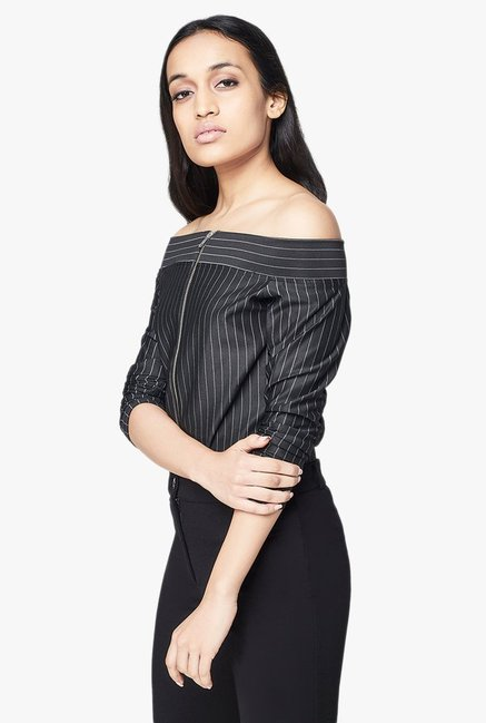 AND Black Pin Striped Top