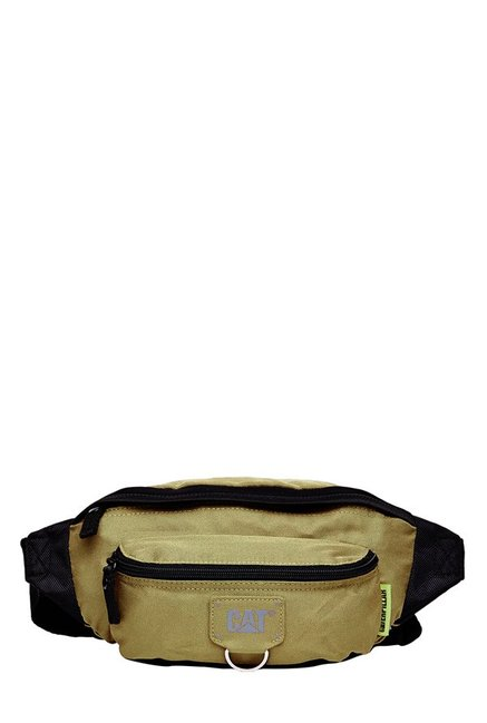 CAT Raymond Beige Solid Polyester Waist Pouch