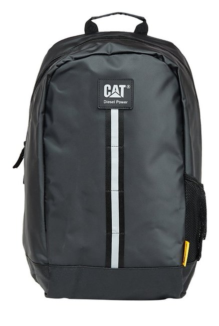 CAT Zion Black Panelled Rubber Backpack