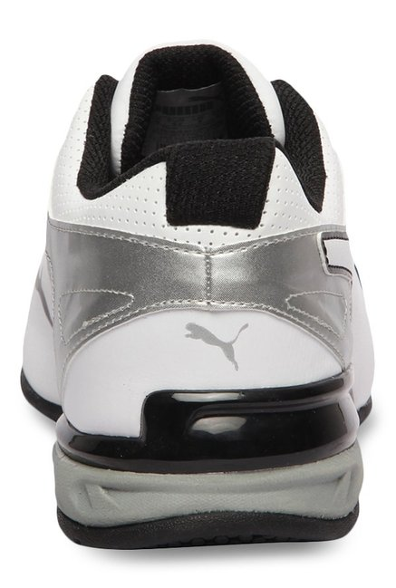 9de855904be Buy Puma Tazon 6 FM White   Silver Running Shoes for Men at Best ...