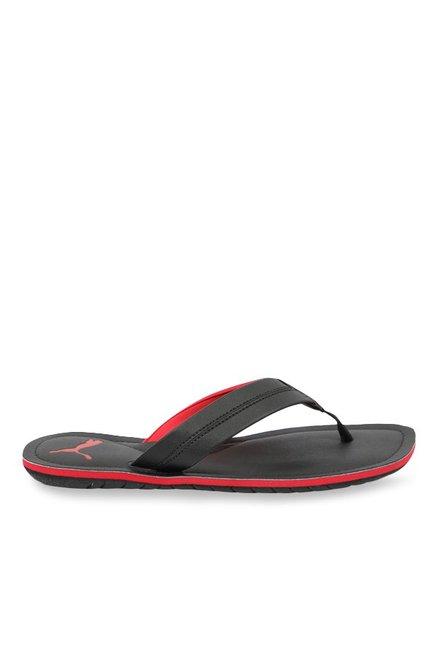89d8ad3b94a Buy Puma Ablaze Black   Red Flip Flops for Men at Best Price   Tata CLiQ