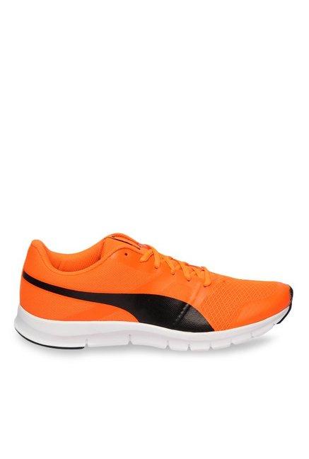 Buy Puma Flexracer Shocking Orange   Black Running Shoes for ... 58d65f01c