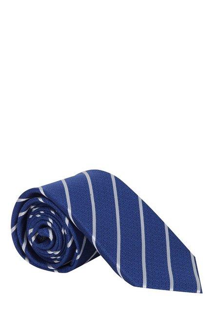 Raymond Blue & White Striped Silk Tie