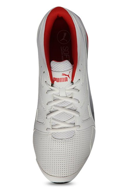179af1561f9 Buy Puma Tazon Modern SL FM White   Silver Running Shoes for Men at ...