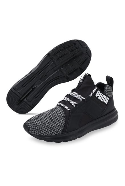 11df0da9a4fada Buy Puma Enzo Terrain Asphalt Grey   Black Running Shoes for Men at ...
