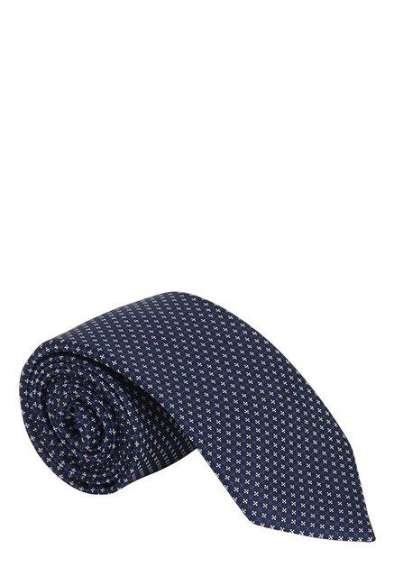 Raymond Blue & White Jacquard Silk Tie