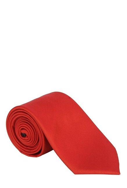 Raymond Dark Orange Woven Silk Tie