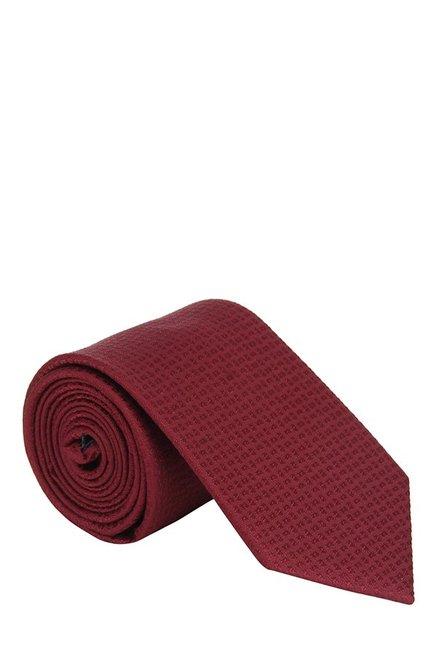 Raymond Dark Red Jacquard Silk Tie