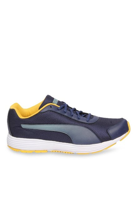 58ad42a3568 Buy Puma Aeden Peacoat   Quarry Running Shoes for Men at Best Price   Tata  CLiQ