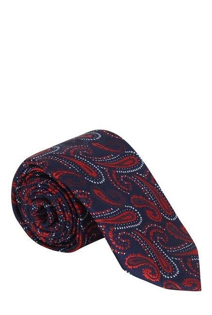 Raymond Navy & Red Paisley Silk Tie
