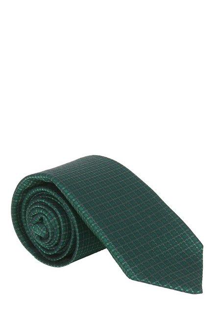 Raymond Dark Green Jacquard Silk Tie