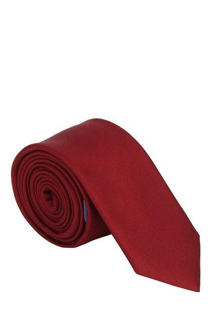 Raymond Red Solid Silk Tie