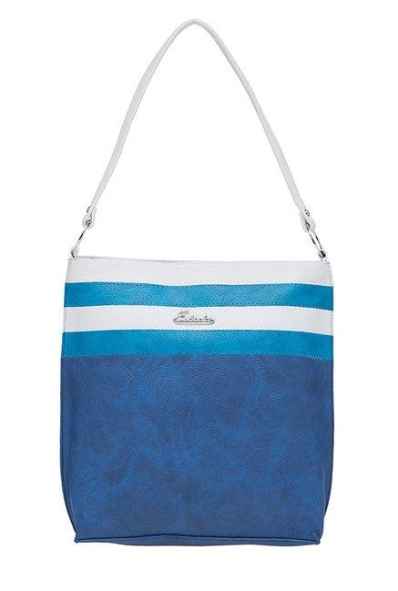 Esbeda Dark Blue & White Striped Shoulder Bag
