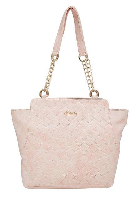 Esbeda Light Pink Quilted Shoulder Bag