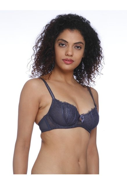 Aria Leya Grey Under Wired Non-Padded Minimizer Bra