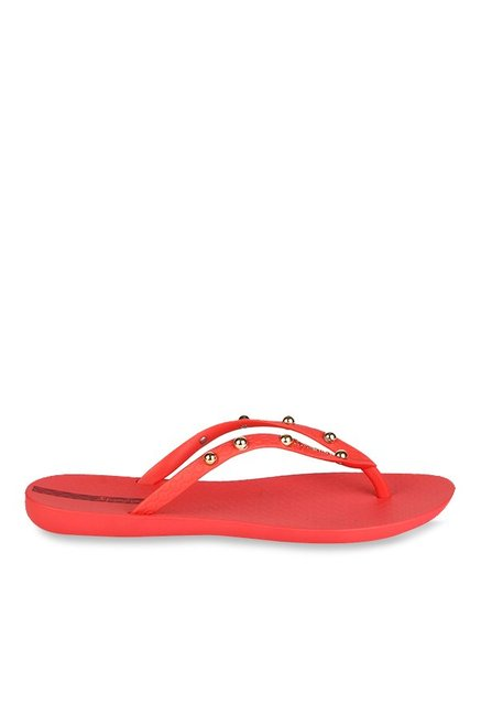 Buy Ipanema Red   Golden Flip Flops for Women at Best Price ... e329f51022