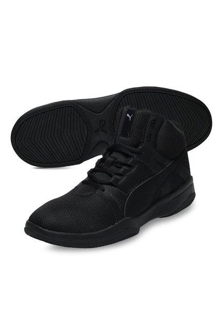 Buy Puma Rebound Street Evo Black Ankle High Sneakers for