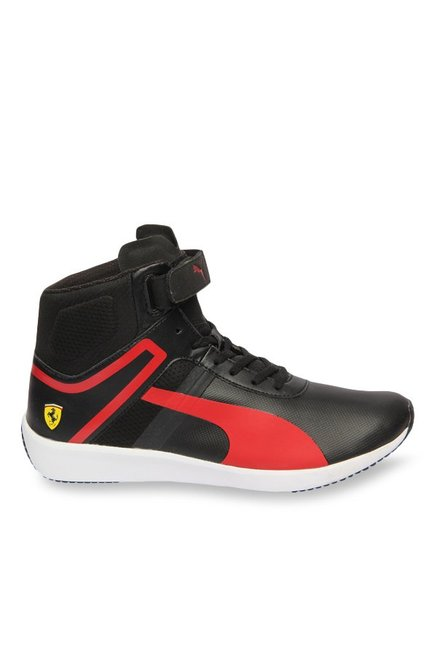 ... new zealand puma ferrari sf f116 black rosso corsa ankle high sneakers  3ba6c 1249e 49605afbb