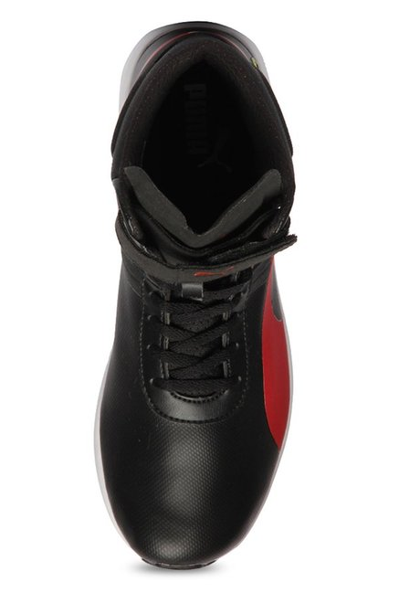 5492ef6d0d6 Buy Puma Ferrari SF F116 Black   Rosso Corsa Ankle High Sneakers for ...