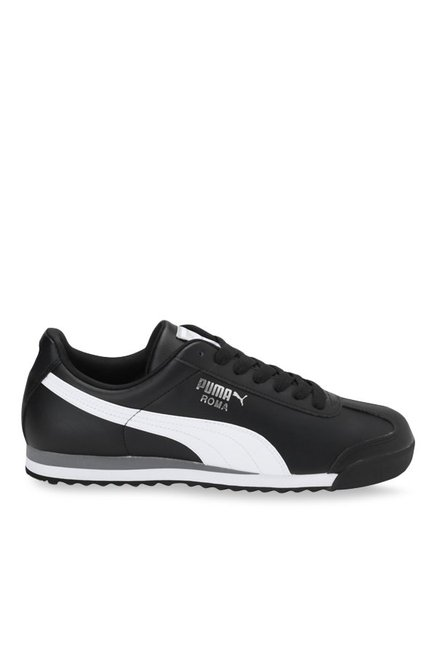 Buy Puma Roma Basic Black   White Sneakers for Men at Best Price   Tata CLiQ 8533937790d7
