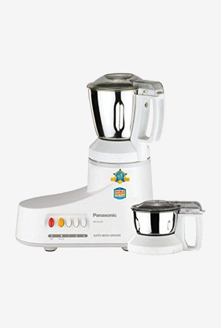 Panasonic MX-AC220-H 550 Watts Super Mixer Grinder Grey, (2 Jars)