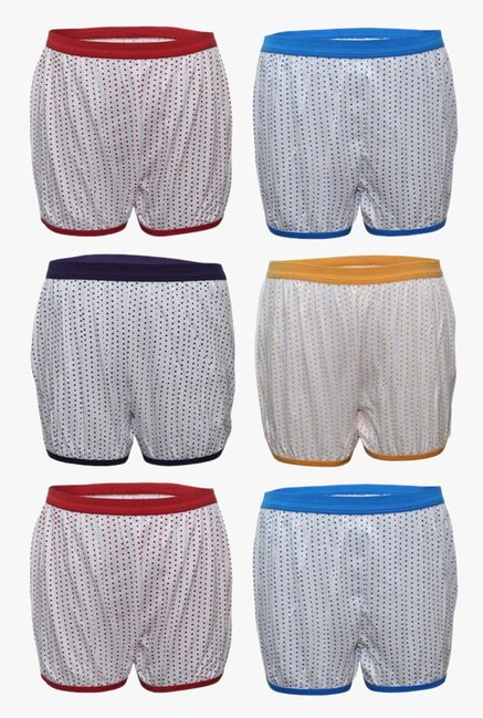 Bodycare Kids Red, Blue, Purple   Yellow Bloomers  Pack of 6