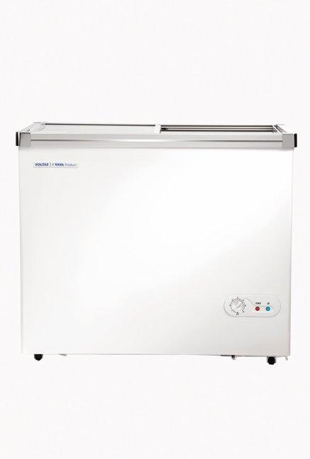 Voltas 205 GSL 205 L Single Door Horizontal Chest Freezer (Classic White)