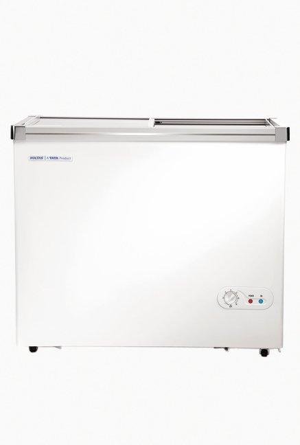 Voltas 405 GSL 405 L Single Door Horizontal Chest Freezer (Classic White)
