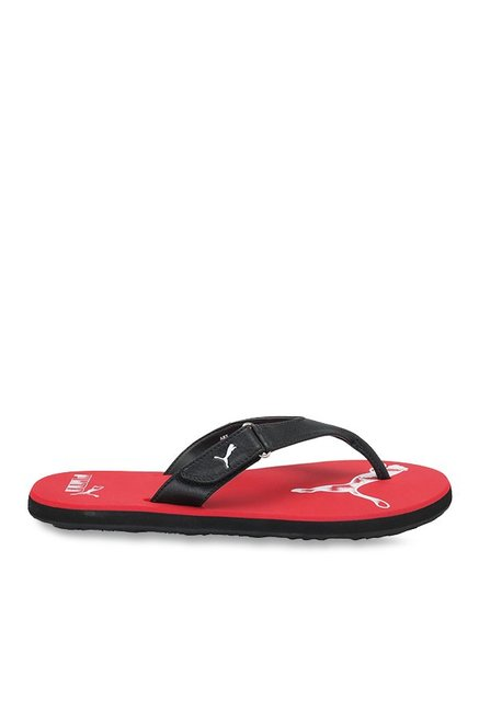 c694413abd27 Buy Puma Breeze 2 NG IDP Black   Barbados Cherry Flip Flops for Men at Best  Price   Tata CLiQ