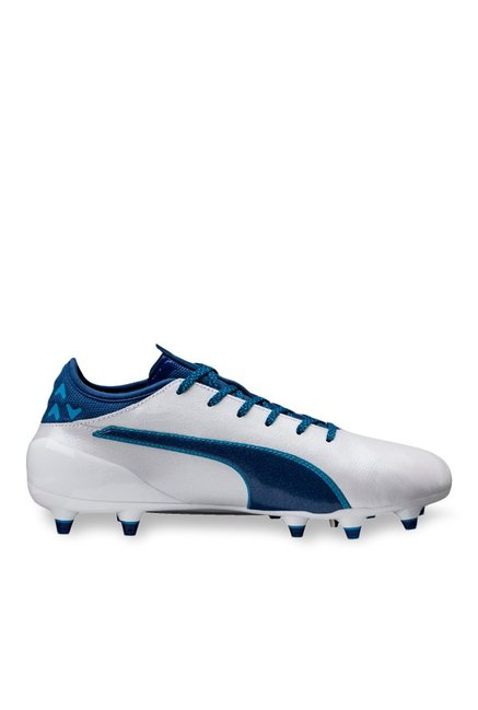 643a8d924efd Buy Puma evoTOUCH 2 FG White   True Blue Football Shoes for Men ...