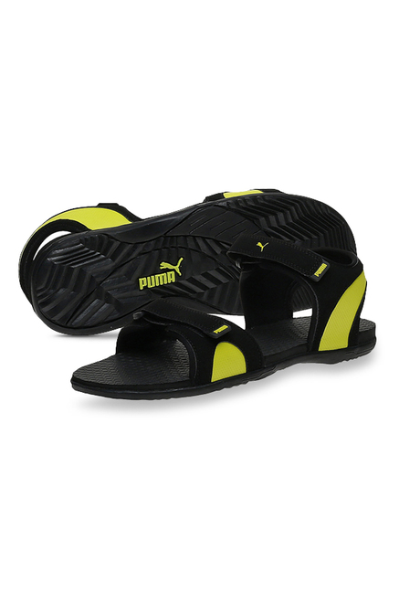 032f9e35d32e Buy Puma Relay IDP Black   Lime Punch Floater Sandals for Men at ...