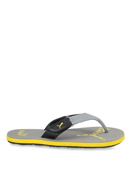 bc9700aabb5e Buy Puma Breeze 2 NG IDP Steel Grey   Yellow Flip Flops for Men at ...