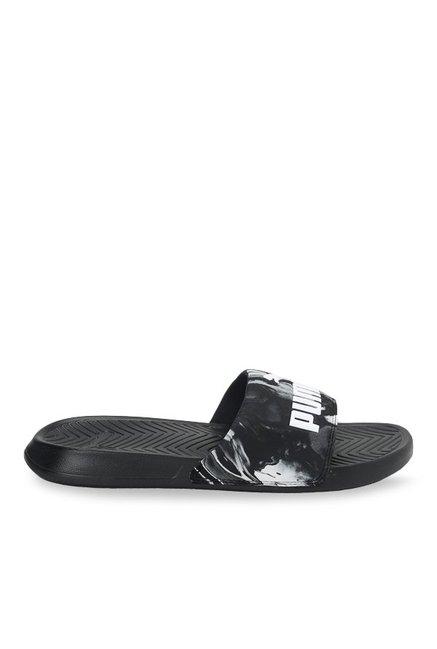 16a04c98442a2c Buy Puma Popcat Marble Black   White Casual Sandals for Men at Best Price    Tata CLiQ