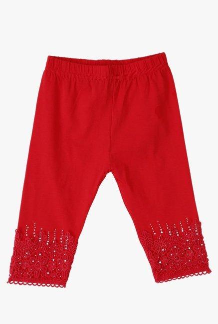 cd0c198d Buy Lilliput Red Embroidered Leggings for Infant Girls Clothing Online ...