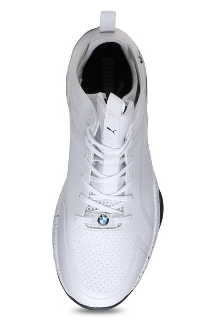 ad9e565bd4fa7c Buy Puma BMW MS Whiplash Mid White Ankle High Sneakers for Men at ...