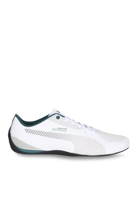 e46817cd89478f Buy Puma Mercedes MAMGP Drift Cat 5 Ultra White   Blue Sneakers for Men at Best  Price   Tata CLiQ