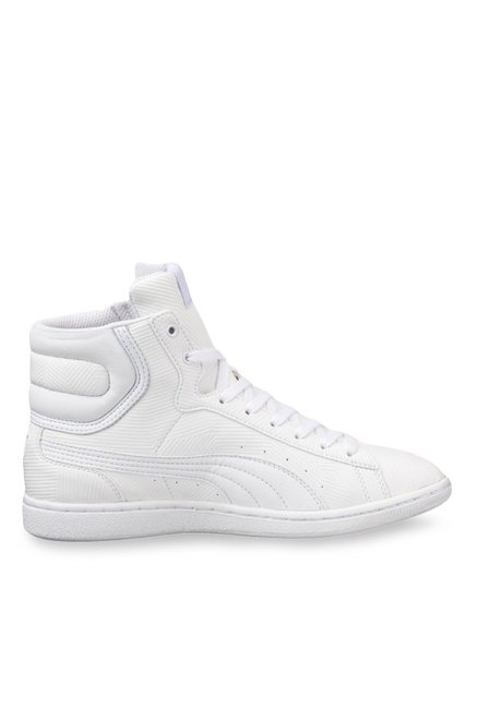 Buy Puma Vikky Mid Deboss White Ankle High Sneakers for