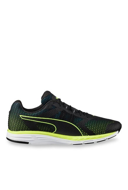 6ff14c96adf Buy Puma Ignite Speed 500 Black   Safety Yellow Running Shoes for ...