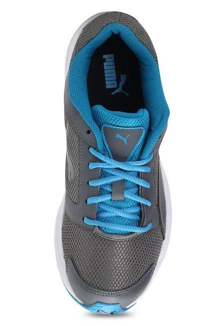 Buy Puma Splendor DP Steel Grey   Blue Danube Running Shoes for Men ... 3a78786a1