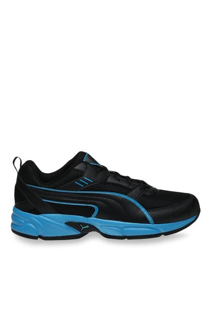 745156e9672 Buy Puma Atom Fashion III DP Black   Atomic Blue Running Shoes for Men at  Best Price   Tata CLiQ